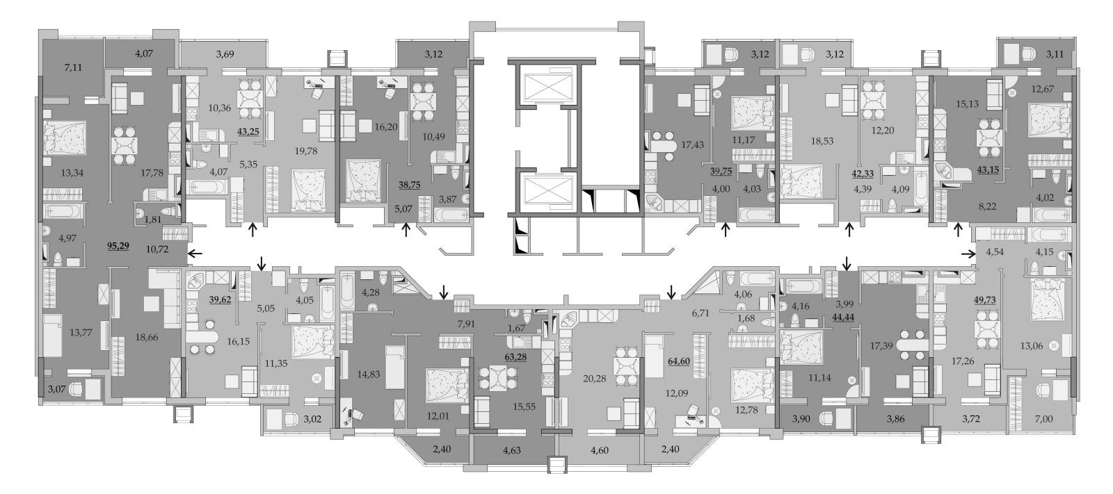 Планировки 12-го этажа