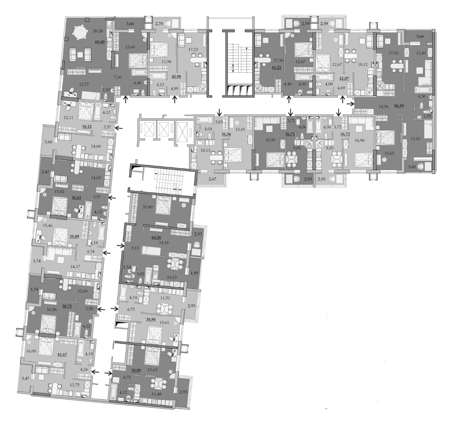 Планировки 4-го этажа
