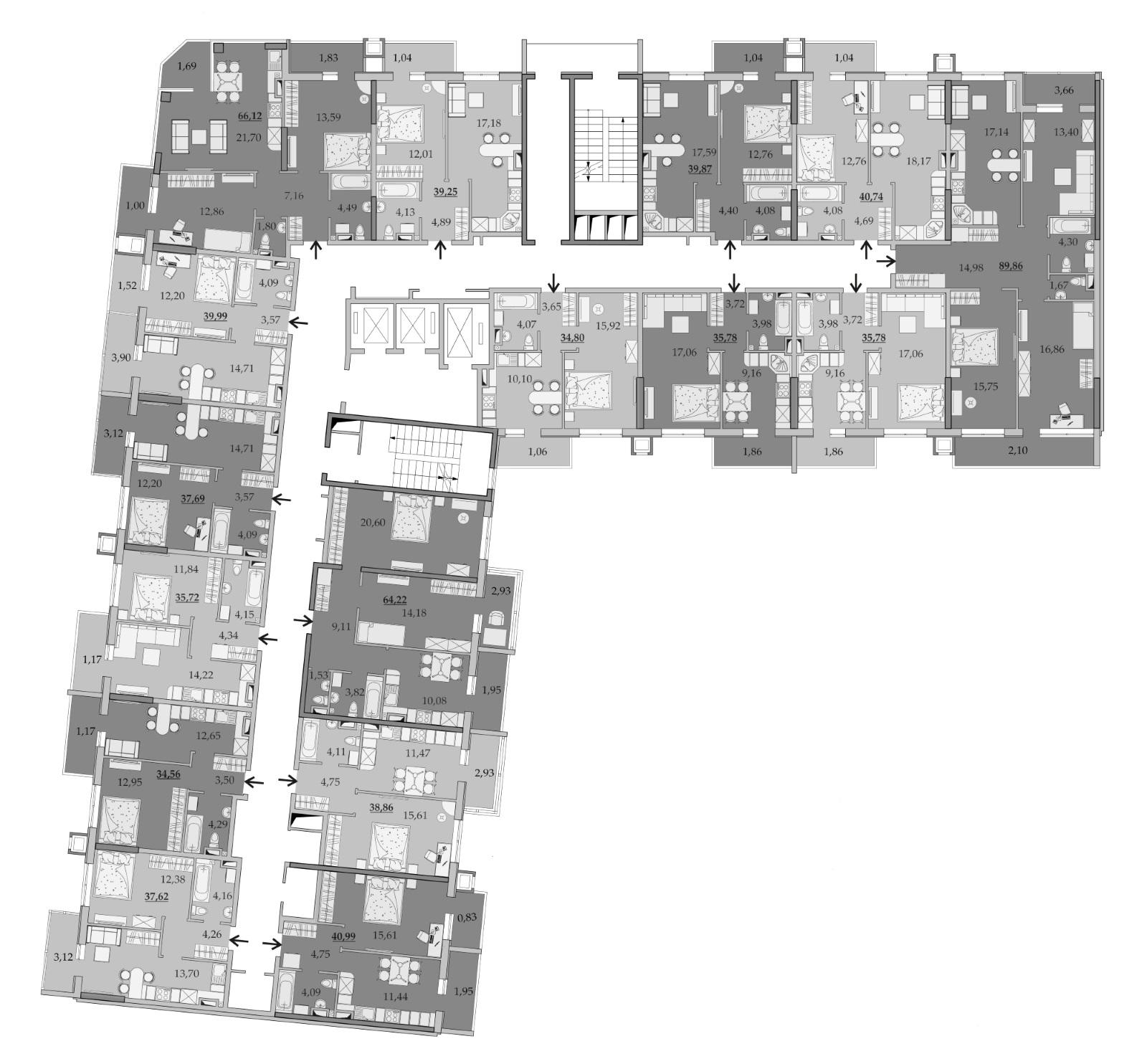 Планировки 7-го этажа